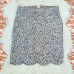 Beautiful sequin lace skirt